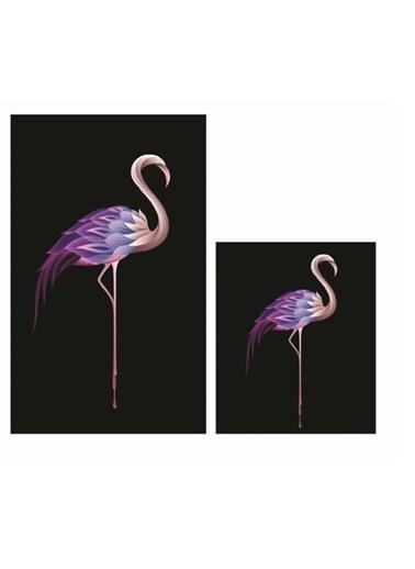 Soley Flamingo Djt. 2 Li Banyo Paspas Seti Klozet Takımı Renkli